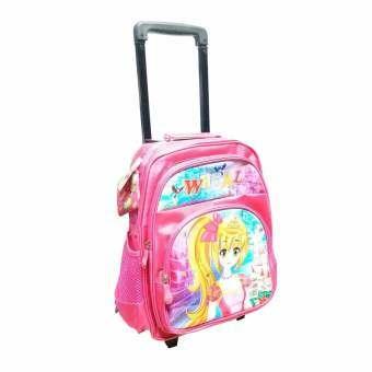 Onebagshop กระเป๋าเป้ล้อลากเด็ก  รุ่นK437  ขนาด 14 นิ้ว PINK-