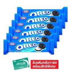 OREO โอริโอ คุกกี้แซนวิชช็อกโกแลต  137 กรัม (แพ็ค 6 ห่อ)