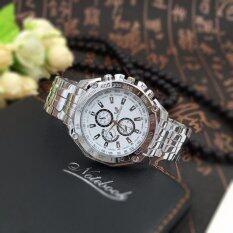 ขาย Oriando นาฬิกาข้อมือสุภาพบุรุษ สายสแตนเลส รุ่น C8023 Silver White ใหม่
