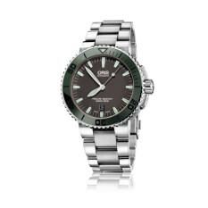 ซื้อ Oris Aquis Date Automatic นาฬิกาข้อมือสุภาพบุรุษ สายสแตนเลส รุ่น 01 733 7653 4157 สีเทาขอบเขียว ถูก พะเยา