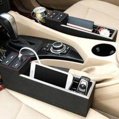 ขาย Osman 4 Usb Port Leather Car Seat Crevice Storage Box Seat Gap Box Seat Gap Filler With Driver Usb Thailand ถูก