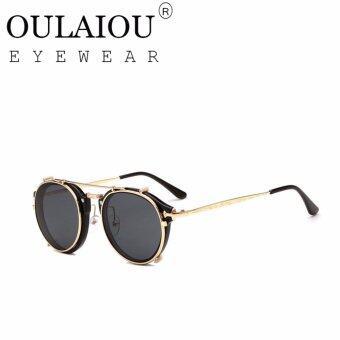 Oulaiou Men's Fashion Accessories Anti-UV Trendy Reduce Glare Sunglasses O1813 - intl