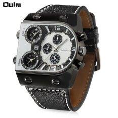 ขาย อูหลงหลายฟังก์ชั่น 3 Movt ควอตซ์นาฬิกาข้อมือหนังผู้ชายกีฬาทหารนาฬิกา นานาชาติ Oulm ใน จีน