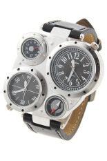 ซื้อ Oulm นาฬิกาข้อมือผู้ชาย สีดำ สายหนัง รุ่น O 9415