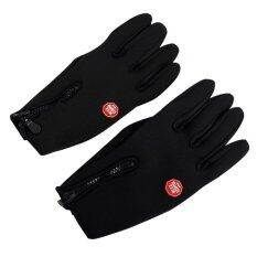 ราคา Outdoor Windproof Motorcycle Gloves Black ออนไลน์