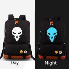 ขาย Overwatch Reaper Ow Noctilucent Backpack Women Men Rucksack Travel Gym Laptop Bag Black No Brand ใน จีน