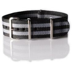 ราคา สายนาฬิกา Overwrist Nylon Nato Strap Black And Grey Jamebound 20Mm สาย นาโต้ สีเทา ดำ Overwrist