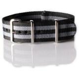 ซื้อ Overwrist สายนาฬิกา Nylon Nato Strap Black And Grey Jamebound 22Mm สาย นาโต้ สีเทา ดำ ถูก ใน ไทย