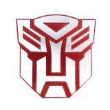 ขาย ซื้อ ป้ายโลโก้ Logo ฝ่ายพระเอก อัลลูมิเนียม สะท้อนแสง ขนาด 7X7ซม สีแดง