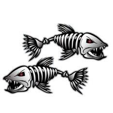 ขาย ซื้อ Pack Of 2 Skeleton Fish Bones Vinyl Decal Sticker Kayak Fishing Boat Car Graphics Intl