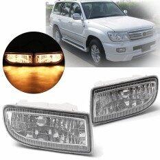 ทบทวน Pair Driving Fog Lights Kit W Bulbs 12V 55W Bulbs For Toyota Land Cruiser 1998 2007 Intl