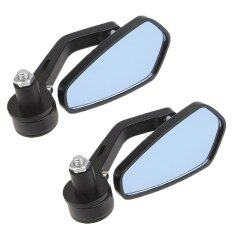 ซื้อ Pair Motorcycle 7 8 Rearview Blue Mirror Handle Bar End Forsuzuki Kawasaki Intl ถูก จีน