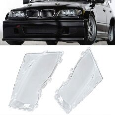 Pair Of Headlight Lens Lamp Covers Left Right Fit For Bmw 3 Series E46 01 06 Intl จีน