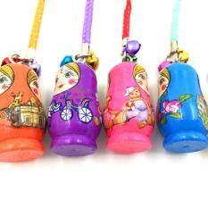 ซื้อ Palight 12 Pcs Wood Matryoshka Russian Dolls Key Rings Keychains Intl ใน จีน