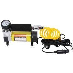 ส่วนลด ปั๊มลมติดรถยนต์ ปั๊มเติมลมยาง ปั๊มลมไฟฟ้า 12V สีเหลือง Unbranded Generic