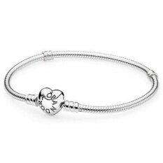 ส่วนลด สินค้า Pandora Sterling Silver W Heart Clasp 18 Cm Intl