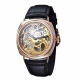 ทบทวน Parnis อิตาลีสไตล์ทหารผู้ชาย Hand Wind Mechanical นาฬิกาโครงกระดูกคู่ Rose Gold Parnis