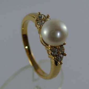 Pearl Jewelry  แหวนมุกแท้ Princess Ring No.7