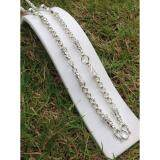 ราคา Pearwajewelry สร้อยเงินผสมนิเกิ้ล สร้อยลายห่วงคู่ หนัก3บาท5ห่วง ยาว26นิ้ว ใหม่ล่าสุด