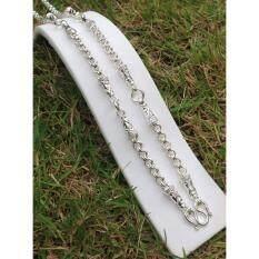 ราคา Pearwajewelry สร้อยเงินผสมนิเกิ้ล สร้อยลายห่วงคู่ หนัก3บาท5ห่วง ยาว26นิ้ว Unbranded Generic ใหม่
