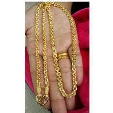 ส่วนลด Pearwajewelry สร้อยเงินผสมชุบเศษทอง สร้อยลายโซ่คอตกิต หนัก2บาท ยาว24นิ้ว กรุงเทพมหานคร