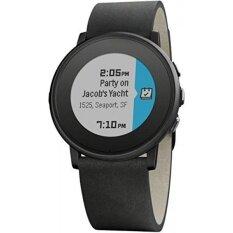 ขาย Pebble Time Round 20Mm Smartwatch For Apple Android Devices Black Black Intl ราคาถูกที่สุด