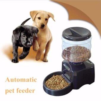 perfect pet diner เครื่องให้อาหารสัตว์เลี้ยงอัตโนมัติ-(สีดำ)