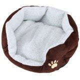 โปรโมชั่น Pet Dog Puppy Cat Soft Fleece Warm Nest Bed Plush Pad Cotton Mat House Coffee Intl