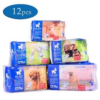 ราคาดีที่สุด Pet Soft Pet Disposable Female Puppy Dog Diaper,12Pcs,XXS - intl shock sale - มีเพียง ฿1,388.19