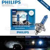 ขาย Philips หลอดไฟ รถยนต์ H4 รุ่น Diamond Vision แสงขาว 5000 K ถูก ไทย