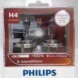 ราคา Philips H4 X Tremevision Plus 100 12V 60 55W หลอดไฟรถยนต์ฮาโลเจน แสงสว่างเพิ่มขึ้นถึง 100 2 หลอด ออนไลน์
