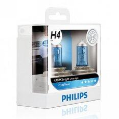ราคา Philips หลอดไฟรถยนต์ รุ่น Crystalvision H4 White Light ออนไลน์ กรุงเทพมหานคร