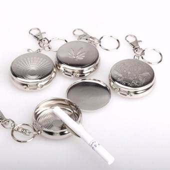 พวงกุญแจ ที่เขี่ยบุหรีพกพา ทุกที่ทุกเวลา Keychain Portable Ashtrays Stainless Steel Pocket รุ่น 0004-