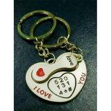 ขาย พวงกุญแจคู่รัก รูปหัวใจ I Love You ล็อค Love เหมาะเป็นของขวัญให้แฟนน่ารัก ไทย