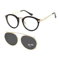 ซื้อ Playclassic แว่นตากันแดด วินเทจคลิปออน รุ่น Series G Black Playclassic ออนไลน์