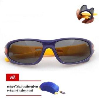 แว่นตากันแดดเลนส์ polarize รุ่น sport dark blue