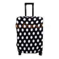 ส่วนลด ผ้าคลุมกระเป๋าเดินทางผ้ายืดลายจุด Polka Dots 24 สีดำ