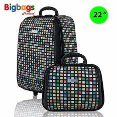 ขาย Polo กระเป๋าเดินทาง ล้อลาก 22 12 นิ้ว เซ็ตคู่ รุ่น Mosaic Tk1001Ef Multicolor Black ถูก ใน สมุทรปราการ