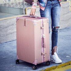 ราคา Rma กระเป๋าเดินทาง รุ่น Sj757 สีชมพู 24นิ้ว ใน กรุงเทพมหานคร