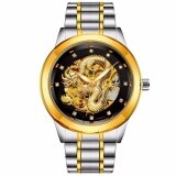 ซื้อ Poloboss นาฬิกาข้อมือผู้ชาย ระบบกลไกแบบออโตเมติก โชว์กลไก สายสแตนเลส สไตส์คลาสสิก สายสแตนเลส 2 กษัตริย์ หน้าปัดสีดำ ใหม่ล่าสุด