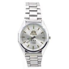 ขาย Pomar นาฬิกาข้อมือผู้ชายสายStainless รุ่น หน้าปัดสีขาว กรุงเทพมหานคร