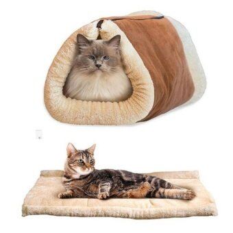 ราคา Portable 2 In 1 Cat Dog Pet Mat Dog House Beds Pet Products Washable Warm Sleeping Bed Kennel Brown Intl ถูก