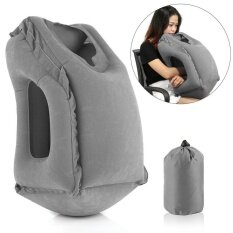 ราคา Portable Inflatable Travel Pillow Multifunction Airplane Neck Head Cushion Pillow Grey Intl เป็นต้นฉบับ