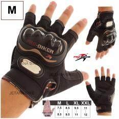 โปรโมชั่น Pro Biker รุ่น Mcs 04 ถุงมือมอเตอร์ไซค์ ถุงมือ ถุงมือครึ่งนิ้ว กันกระแทก กันลื่น สีดำ