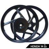 ราคา Probiker ล้อแม็ค ขอบ 14 นิ้ว สำหรับ Honda Click Click I Scoopy Scoopy I สีดำ ที่สุด