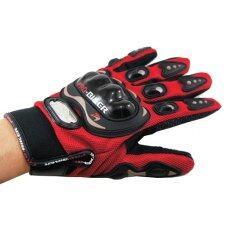 ขาย Probiker ถุงมือเต็มนิ้ว Mc 01 ลิขสิทธิ์แท้ สีแดง ไทย ถูก