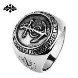 ราคา ไหลบ่าเข้ามาของผู้คนกองทัพเรือลมชายไวด์ไทเทเนียมเหล็กแหวนแหวน Unbranded Generic เป็นต้นฉบับ