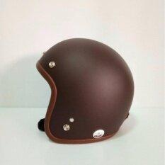 โปรโมชั่น Avex หมวกกันน็อควินเทจคลาสสิค รุ่นLb สีนำ้ตาลด้าน คิ้วนำ้ตาล ผ้านำ้ตาล Avex ใหม่ล่าสุด