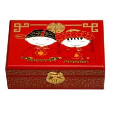 สไตล์จีนกล่องเจ้าหญิงกล่องเครื่องประดับทำด้วยมือไม้ล็อค.
