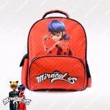 ราคา กระเป๋าเป้เด็ก กระเป๋านักเรียน กระเป๋าเป้ สะพายหลัง ลายการ์ตูน เลดี้บัค สีแดง Miraculous Ladybug เป็นต้นฉบับ